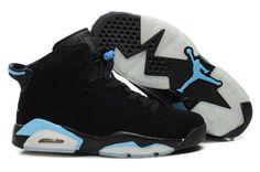 black and light blue jordan retro 6's #jordans #sneakerhead
