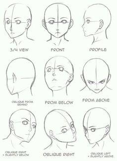 Manga Drawing Tips Drawing Tips Face shape Pencil Art Drawings, Art Drawings Sketches, Art Sketches, Face Drawings, Manga Illustrations, Drawing People Faces, Sketches Of Faces, Animae Drawings, Random Drawings