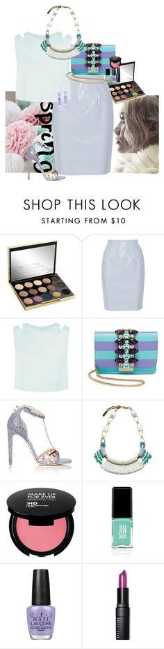 """""""spring pastel"""" by claire86-c on Polyvore featuring moda, Urban Decay, Miu Miu, GEDEBE, Chloe Gosselin, Radà, MAKE UP FOR EVER, Jin Soon, OPI e Bobbi Brown Cosmetics"""