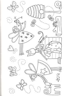 Fairy applique pattern-looks like more fun to print n color ;-)