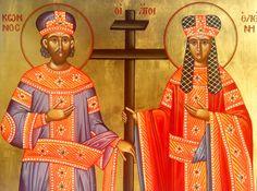 #saint, #saintconstaniteandhelena, #bysantine, #iconography, #greekiconography, #evapolart, #handmade, #handpainted, #handcrafted