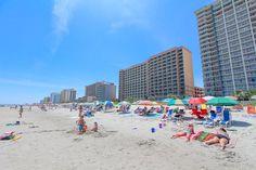 On the beach looking South.  Paradise Resort Condos for Sale | Myrtle Beach Condos   #paradiseresort  http://www.c21theharrelsongroup.com/paradise-resort/