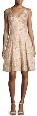 Shop Now - >  https://api.shopstyle.com/action/apiVisitRetailer?id=512306991&pid=uid6996-25233114-59 Aidan Mattox Sleeveless Floral Jacquard Party Dress, Petal  ...