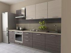 Kitchen design modern grey cupboards ideas for 2019 Kitchen Room Design, Kitchen Cabinet Design, Modern Kitchen Design, Kitchen Colors, Interior Design Kitchen, Kitchen Decor, Modern Design, Grey Kitchens, Home Kitchens