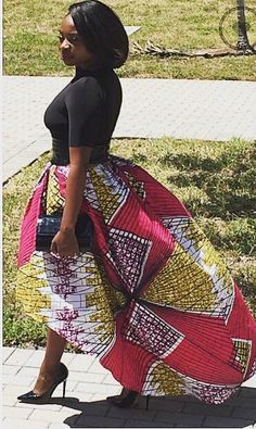 African Print Skirt ~African fashion, Ankara, kitenge, African women dresses, African prints, Braids, Nigerian wedding, Ghanaian fashion, African wedding ~DKK