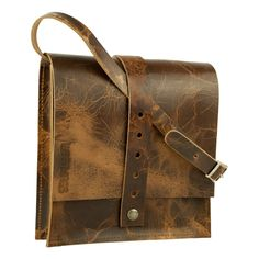 #schoudertas #tuigleer #apaloosa #bruin http://www.ganza.nl/tassen/handtassen/product/89-leren-schoudertas-bruin-wasthings-classics-no4