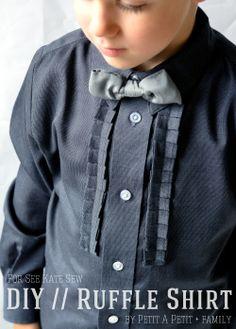 DIY ruffle shirt tutorial for BOYS!