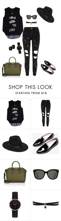 """Black. Just."" by vanessaboing on Polyvore featuring moda, Melissa McCarthy Seven7, Lack of Color, Givenchy, Gentle Monster, Abbott Lyon, Fallon e plus size clothing"