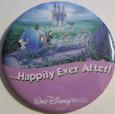 disney worldpins | FREE: WALT DISNEY WORLD Wedding Button Pin - ...HAPPILY EVER AFTER