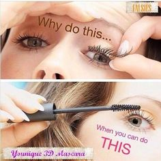 a4911ad33b6 There is no longer a need to struggle with glue or adhesive for falsies  simply use Younique Fiber Lash Mascara to be footloose and fancy free!
