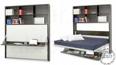 Wall/Bed/Desk for Tiny House! Or for Tiny Studio Office Tiny House Bedroom, Tiny House Loft, Tiny House Living, Home Bedroom, Living Room, Apartment Living, Small House Furniture, Expand Furniture, Home Furniture