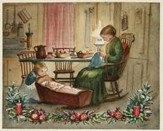 I love Tasha Tudor, but have never seen this drawing before.  Beautiful!