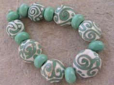Handmade lampwork beads; Love the colors!