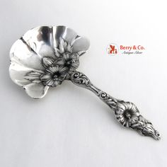 Hibiscus Bon Bon Spoon Sterling Silver Whiting 1900