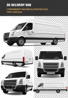 5 high quality renders of delivery van with 70005600 pixel resolution. Files included: 5 png files without background.
