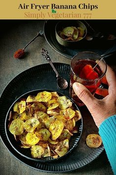 Learn how to make Banana Chips in Air fryer. It is a healthy gluten-free recipe that can be made vegan too. #airfrying #healthysnacks #bananachips #kidssnacks #glutenfreediet Healthy Gluten Free Recipes, Gluten Free Snacks, Healthy Snacks, Vegetarian Recipes, Eating Healthy, Raw Banana, Banana Chips, Baked Banana, Baked Plantain Chips