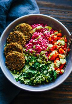 2. Falafel Beet Bowl #greatist http://greatist.com/eat/buddha-bowl-recipes