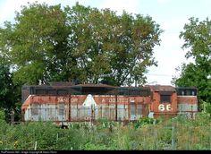 RailPictures.Net Photo: BAR 66 Bangor & Aroostook EMD GP7 at St. Paul, Minnesota by Aaron Florin Union Pacific Train, Vintage Trains, Rust In Peace, Abandoned Train, Bangor, Locomotive, Buses, Railroad Tracks, Minnesota
