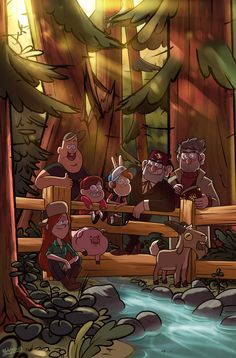 What a lovely picture of the Gravity Falls season 2 gang! Cudos to the artist for this artwork and the fantastic lighting of it, by the way!