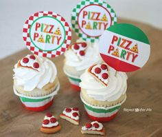 Pizza Cookies It's that time of year again when I start to plan my boys birthday party! Big brother is turning 5 and little brother is tu...