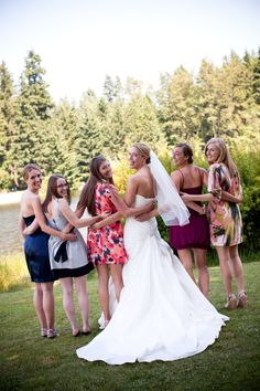 wedding picture with college roommates