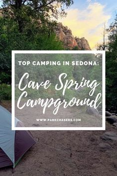 Cave Spring Campground in Sedona Arizona near Grand Canyon and Saguaro National Park Passport, National Park Camping, National Forest, Arizona Road Trip, Arizona Travel, Sedona Arizona, Arizona National Parks, Grand Canyon National Park