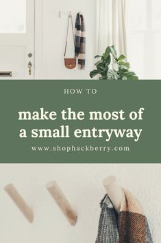 How to Make the Most of a Small Entryway: With a little creativity, and the right products, you can make your small entryway a simple, functional, and beautiful space. Minimalist Home Decor, Beautiful Space, Home Organization, Entryway, Creativity, New Homes, Make It Yourself, Simple, How To Make