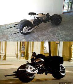 a Batpod Custom Motorcycle Batman Dark Knight Replica! Batman Bike, Batman Batmobile, Futuristic Motorcycle, Motorcycle Art, Armadura Do Batman, Bullet Bike Royal Enfield, Bobber Bikes, Funny Pictures For Kids, Batman The Dark Knight