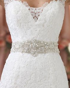 Dazzing Cheap 2015 Sexy Wedding Dresses Sash And Belts Bridal Sashes Rhinestone Crystal Beads Pearls Vintage For Party Evening Accessories From Myweddingdress, $33.51 | Dhgate.Com