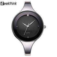 US $5.99 GEEKTHINK Luxury Brand Fashion Quartz Watch Women Ladies Stainless Steel Bracelet Watches Casual Clock Female Dress Gift Relogio. Aliexpress product