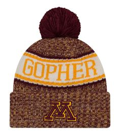 754acd42ad22 New Era Men s Minnesota Golden Gophers Maroon Sport Knit Beanie