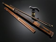 Violin Walking Stick ~ M.S. Rau Antiques