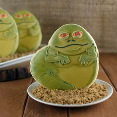 Star Wars Jabba the Hutt Cookies with Printable Template - Semi Sweet Designs