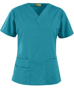 Origins Bravo Lady Fit V-Neck Top in Real Teal - WonderWink Scrubs Scrubs Outfit, Scrubs Uniform, Scrubs Pattern, Medical Scrubs, Nursing Scrubs, Nursing Clothes, Scrub Jackets, Womens Scrubs, Scrub Pants