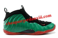 Nike Air Foamposite One Green Black Red Shoes Nike Air Shoes, Foam Posites, Red Shoes, Running Shoes, Sneakers, Green, Black, Fashion, Red Dress Shoes