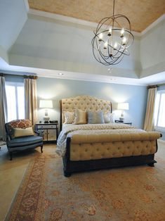 Pictures of Dreamy Bedroom Chandeliers | Home Remodeling - Ideas for Basements, Home Theaters & More | HGTV