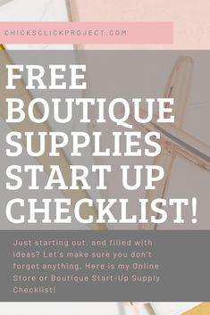 Boutique Business Start Up Supply List Retail Business Ideas, Best Small Business Ideas, Small Business Plan, Start Up Business, Starting A Business, Starting A Clothing Business, Online Business, Starting A Online Boutique, Online Boutique Stores