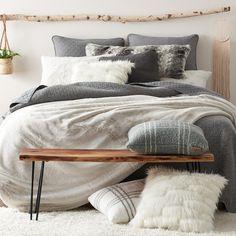 Koolaburra by UGG Sulana Comforter Set with Shams Bed Comforter Sets, Grey Comforter, Comforters, Cozy Bedroom, Bedroom Decor, Bedroom Ideas, Bedroom Inspo, Bedroom Themes, Bedroom Inspiration