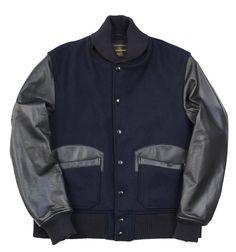Engineered Garments By Golden Bear  Hunter Varsity Jacket