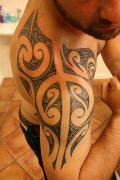 Men, Shoulder, Arm, Maori, Moko, by Calen Paris