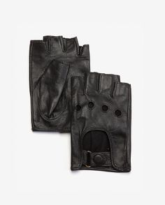 Caroline Amato Fingerless Leather Driving Gloves - $68.00