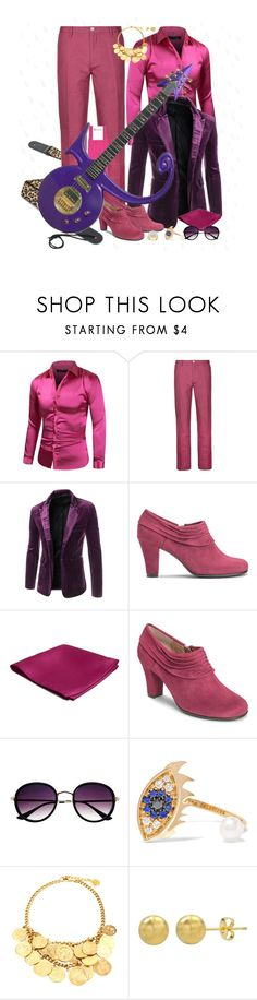 """""""Let Me Guide You to the Purple Rain"""" by leighanned ❤ liked on Polyvore featuring DKNY, Aerosoles, Delfina Delettrez, Ben-Amun, men's fashion and menswear"""
