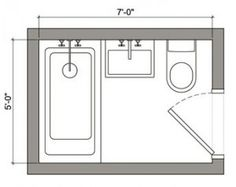 1000 ideas about small bathroom layout on pinterest for Bathroom 5x7 design
