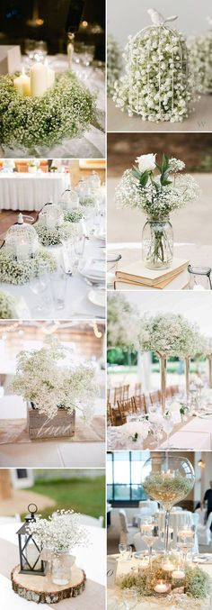baby's breath wedding centerpieces ideas