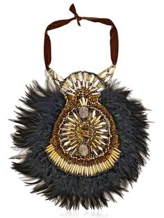 Mira Feather collar by Anita Quansah London