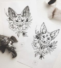 Super how to draw cute fox artists 55 ideas Mini Tattoos, Trendy Tattoos, Leg Tattoos, Body Art Tattoos, Tatoos, Tattoo Sketches, Tattoo Drawings, Animal Drawings, Cute Drawings