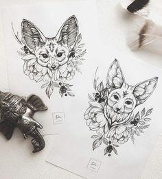 Super how to draw cute fox artists 55 ideas Tattoo Sketches, Tattoo Drawings, Art Sketches, Animal Sketches, Animal Drawings, Leg Tattoos, Body Art Tattoos, Fuchs Tattoo, Tattoo Graphic