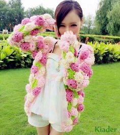 Womens-Girls-Sweet-Flowers-Cardigan-Lolita-Coats-Short-Sweaters-Date-jackets-Hot