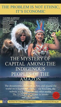 Poster for Documentary The Mystery of Capital among the Indigenous Peoples of the Amazon.