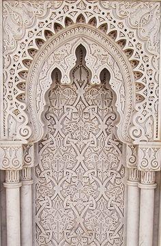 details. Moroccan plaster carving gebs.